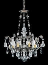 schonbek 3586 76cl renaissance 6 light crystal chandelier in heirloom bronze with clear rock crystal color