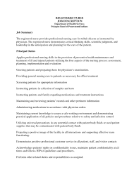 Rn Job Description Resume Rn Job Description For Resume Resume Examples 24 9