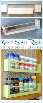 diy kitchen furniture. DIY Wood Spice Rach Rack For Inside The Kitchen Cabinets Less Than 8 To Diy Furniture Y