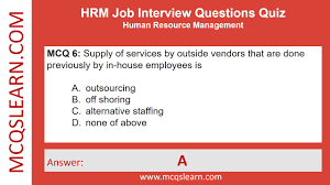 Hrm Job Interview Questions Mcqslearn Free Videos Youtube