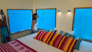 Simple Underwater Hotel Room At Night For Innovation Ideas