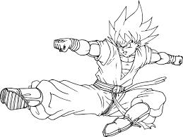 Coloriage Son Goku Dbz Imprimer Sur Coloriages Info