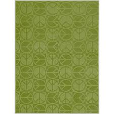 garland large peace lime 8 ft x 10 ft area rug lime green