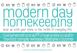 Weekly House Cleaning Chart Modern Day Homekeeping Weekly Cleaning Routine Free