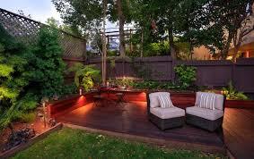 outdoor dream urban small backyard deck lighting
