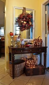fall office decorating ideas. entry way decorations for fall i like the idea of lighted pumpkin under table office decorating ideas