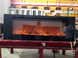 led electric fireplace insert custom mantel modern designer