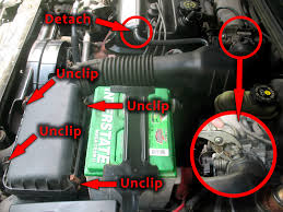 replacing engine coolant temperature sensor ects 1998 saturn air intake air intake removed