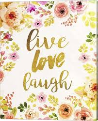 live love laugh canvas wall art by