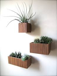 Set of THREE Hanging Wall Plant Holders in TEAK wood, includes 3