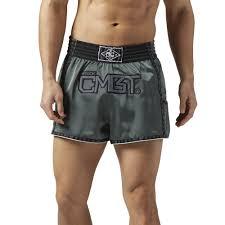 reebok mma shorts. reebok - combat muay thai shorts iron stone bq3433 mma