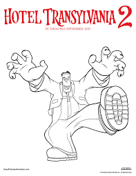 here coloring image detail name hotel transylvania 2 hotel transylvania coloring pages