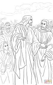 Jesus Heals the Bleeding Woman coloring page | Free Printable ...