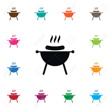 Brazier Design Bbq Vector Element Can Be Used For Bbq Barbecue Brazier Design