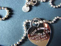 tiffany co return to tiffany heart tag n 72464 pendant with necklace silver