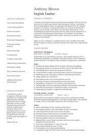 Cv For Teacher English Teacher Cv Sample Ign And Grade Cl Work Homework Sarkar