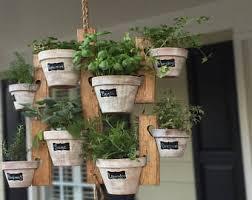 outdoor herb garden. Hanging Garden Wooden Planter Indoor Or Outdoor Herb Succulent Flower Plant 8 Pots