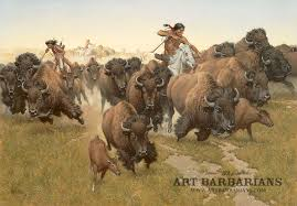 5 13 2018 7 46 am 114284 amidst the thundering herd frank mccarthy buffalo bison hunt native american indians fine art prints for sm51374641 jpg