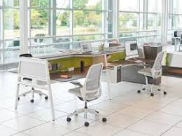 Image Corporate Office Bivi Steelcase Modern Office Bench Seating Workstations Steelcase