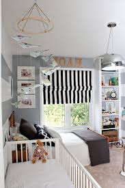 toddler bed and crib Sweet shared bedroom for little boys with a crib