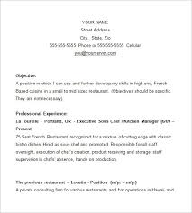 Gallery Of Chef Resume Template 11 Free Samples Examples Psd Format