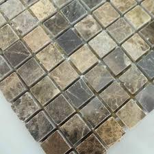 stone tiles mosaic tile deep emperador kitchen backsplash wall sticker mosaic fireplace natural marble backsplash tile
