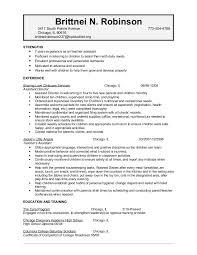 Resume For Child Care Background Success Resume Sample Resume