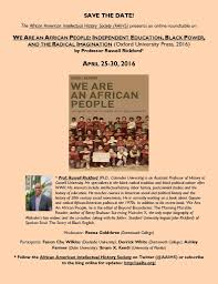 rus rickford and the african american intellectual history society round table