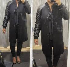 madewell leather sleeve varsity jacket leather trim wool sweatshirt leather sleeve blazer mood dot pullover top reviews gigi s gone ping