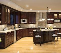 kitchens with dark brown cabinets. Dark Chocolate Kitchen Cabinets With L Shaped Design And Dish Storage Ideas Recessed Led Lighting Fixtures Pendant Lights Above Island 3 Kitchens Brown