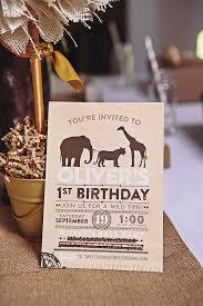 Safari Party Invitations Safari First Birthday Party Invitation Sweet Georgia Sweet Kate