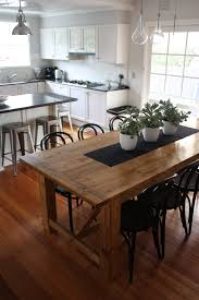 rustic dining table pairs with bentwood chairs stools chairs