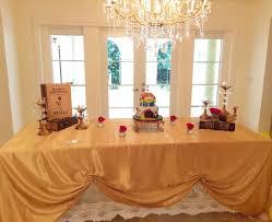 beauty and the beast ball cake table jpg