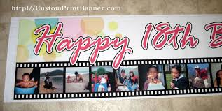 happy birthday banners personalized personalized banners 16ftx9ft personalized happy 18th birthday