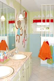Kids Bathroom Flooring Bathroom Kids Bathroom Decor Yellow Paint Wall Color Pink Towel