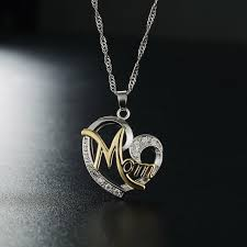 2018 new fashion heart shape letter mom pendant necklace high quality mom birthday jewelry mother s day pendants gift