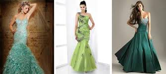 collection of green wedding dresses