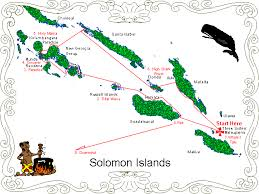 Cruising The Solomon Islands Chart Of The Cruise Of The