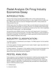 swot analysis of fmcg industry pestel analysis on fmcg industry economics essay