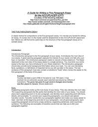 example of a five paragraph essay a guide for writing a five paragraph essay for the