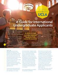 Ucla International Admission Guide By Ucla Undergraduate Admission