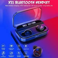 <b>X11</b> IPX7 4000mAh Bluetooth 5.0 <b>Headset</b> In-Ear Earbuds TWS ...