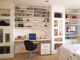 creative home office. Creative Home Office Layout Design With Library Cabinets