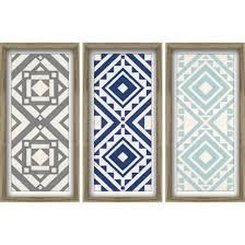 Modern Quilt Art 3 Pack - Blues 12x24 Wall Art - Trendy Pattern ... & Modern Quilt Art 3 Pack - Blues Wall Art - Trendy Pattern - Blue and Gray - Framed  art @ Target Adamdwight.com