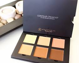 anastasia contour kit cream. top row: banana - cream warm coral bottom nude cinnamon chocolate anastasia contour kit s