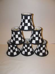 courtly checked chandelier shades handpainted mackenzie childs