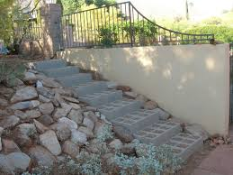 Cinder Block Stairs The Steps Get Finished Step By Step