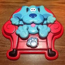 fix as some lawn chairs clue. blues clues thinking chunky 3d chair plastic puzzle blue dog 1998 tyco fix as some lawn chairs clue 6
