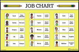 Classroom Posters Make Classroom Charts Job Charts