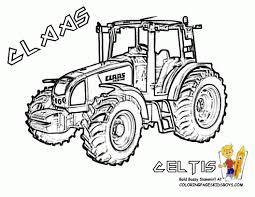 Dessin A Colorier De Tracteur Claas L
